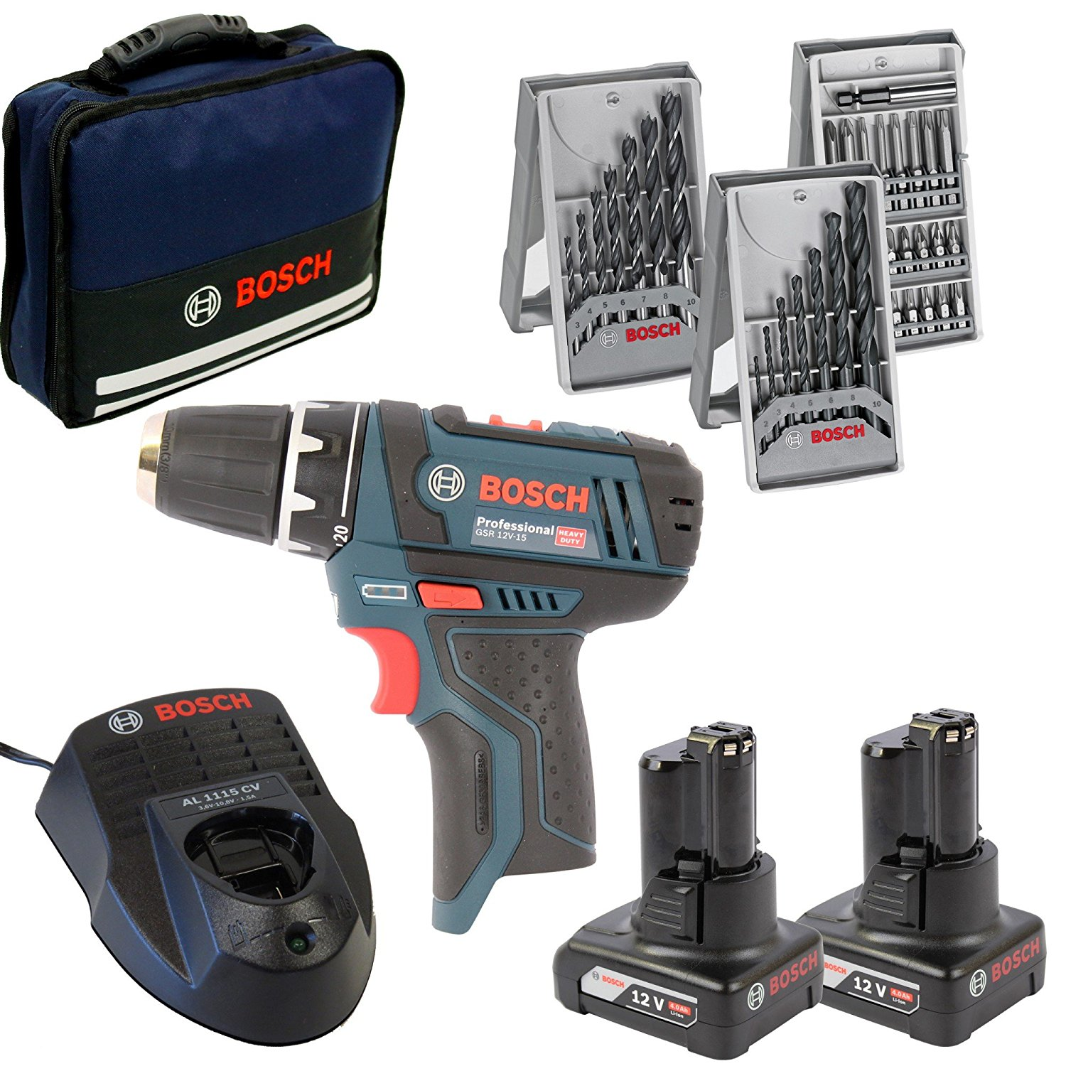 bosch gsr 10 8 2 li professional 2x 4 0ah li ion batterier ecl tools. Black Bedroom Furniture Sets. Home Design Ideas